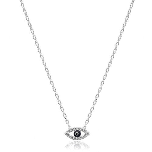 """Clay"" Evil Eye Necklace"