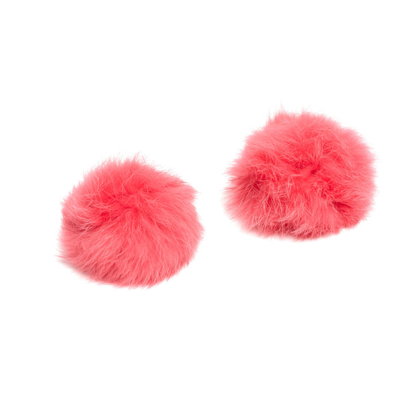 shoe-clips-pom-pom-rabbit-fur-coral