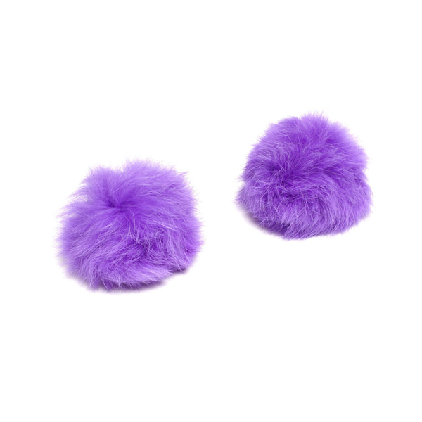shoe-clips-pom-pom-rabbit-fur-purple