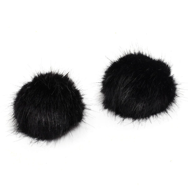 shoe-clips-pom-pom-faux-fur-black