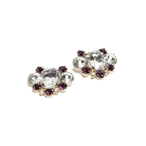 Rachel Hollywood Shoe Clips - Amethyst