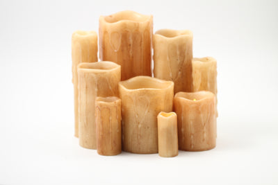 Light Brown Battery Candles