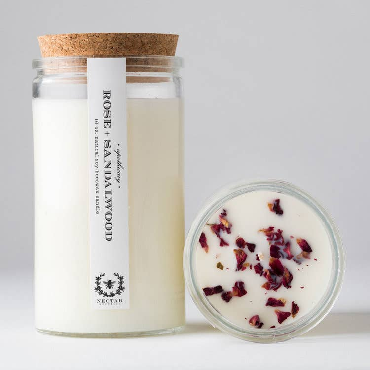 Rose Sandalwood : Apothecary Candle
