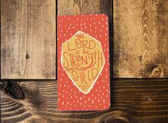 My Strength and Shield Leather Notebook