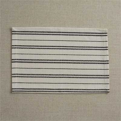 Railroad Stripe Table Linens | White