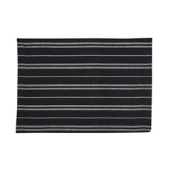 Railroad Stripe Table Linens | Black