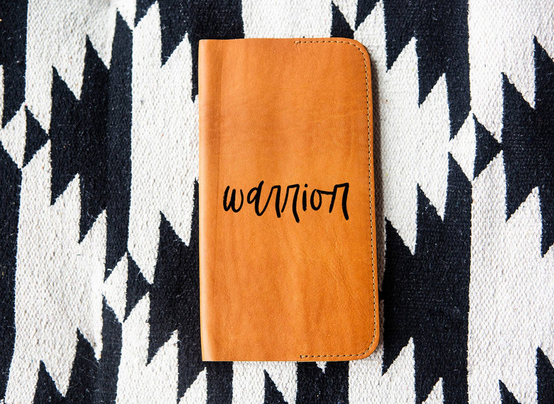 Warrior Tan Leather Notebook