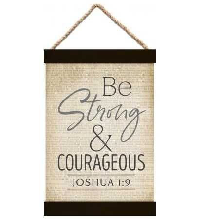 Be Strong & Courageous Banner