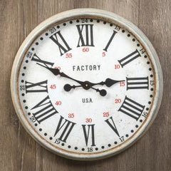 Galvanized Factory Clock - Pick up Only