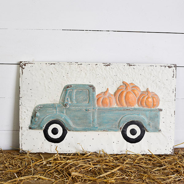 Teal Truck Wall Sign - Pick up Only