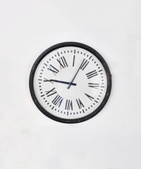 Black and White Tin Clock