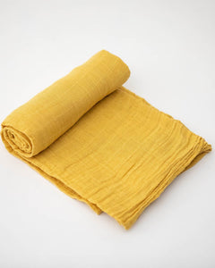 Cotton Swaddle - Mustard