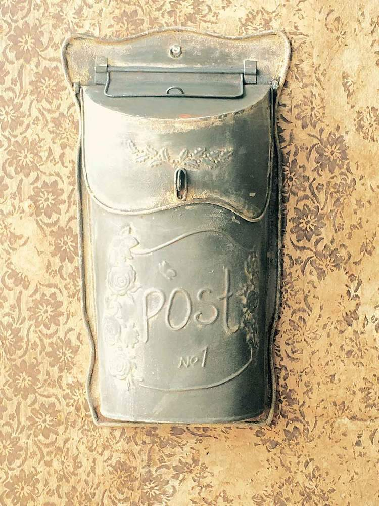 Slim Metal Post Box Galvanized