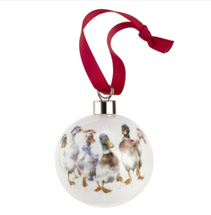 Wrendale Bauble - All Wrapped Up (Ducks)