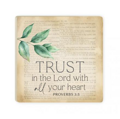 Trust in the Lord with All Your Heart | Coaster