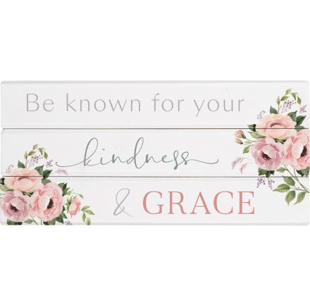 Be Known For Your Kindness & Grace | Word Block