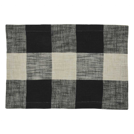 Chesney Plaid Table Linens- Charcoal