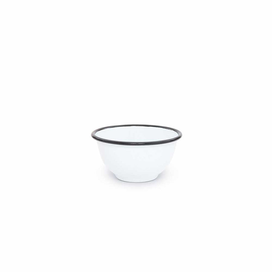 Enamelware - White with Black Trim