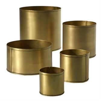 "Bryant Pot 4.25""x 4"" Gold"