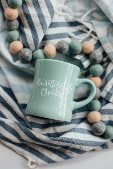 Rachel Allene - Beautifully Created | Ceramic Bistro Mug