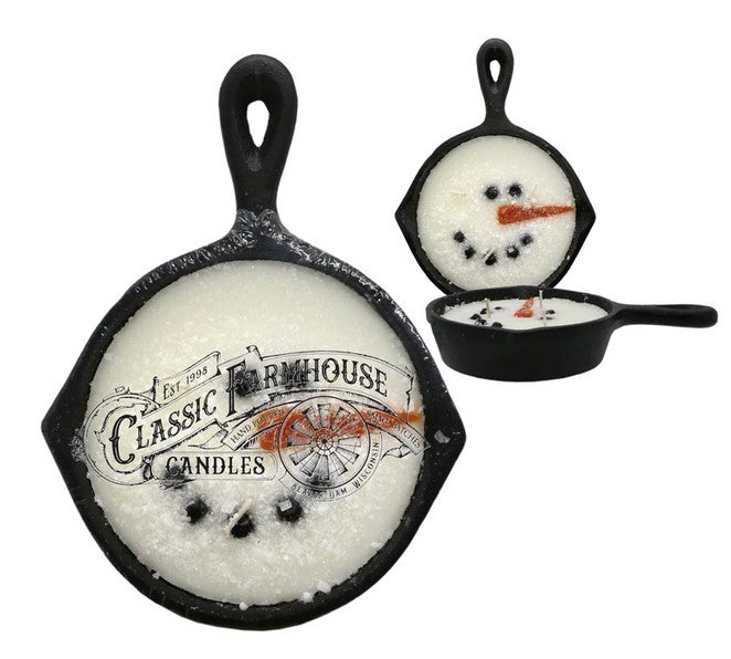 Frosty Cast Iron Pan