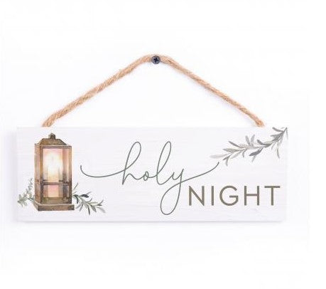 Holy Night Hanging Sign