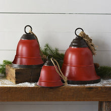 Load image into Gallery viewer, Tin Bells Set of 3