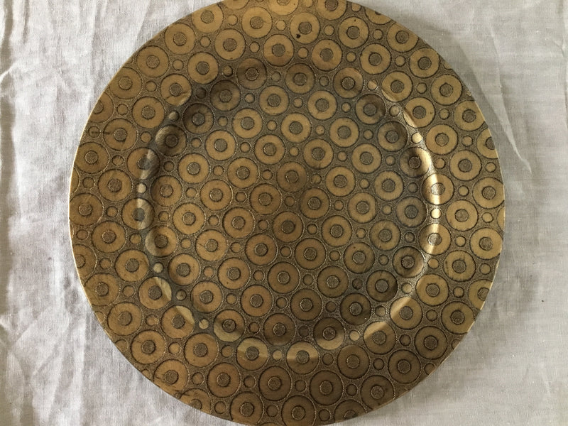 Gold Plate with Pattern