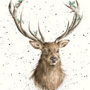 Christmas Stag Enclosure Card