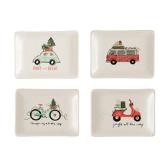 Stoneware Dish w/ Vehicle, 4 Styles, 4