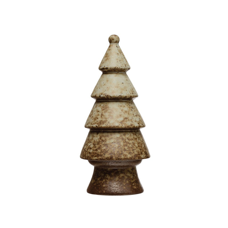 Stoneware Tree, Reactive Glaze