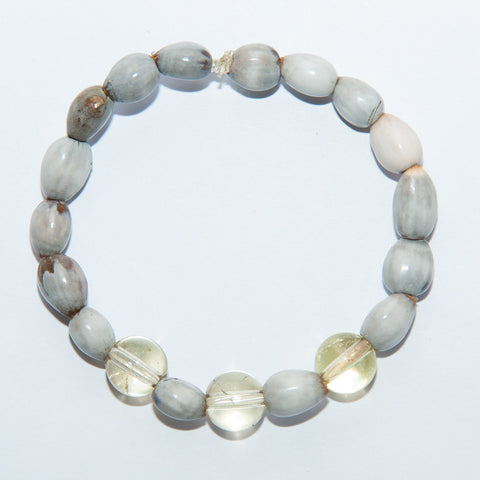 Blessing Bead Bracelet - Agate Yellow
