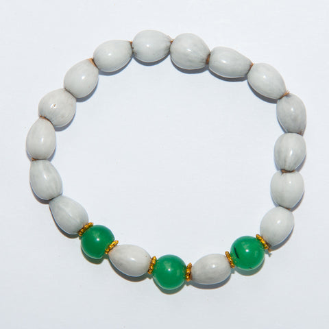 Blessing Bead Bracelet - Agate Green Triple