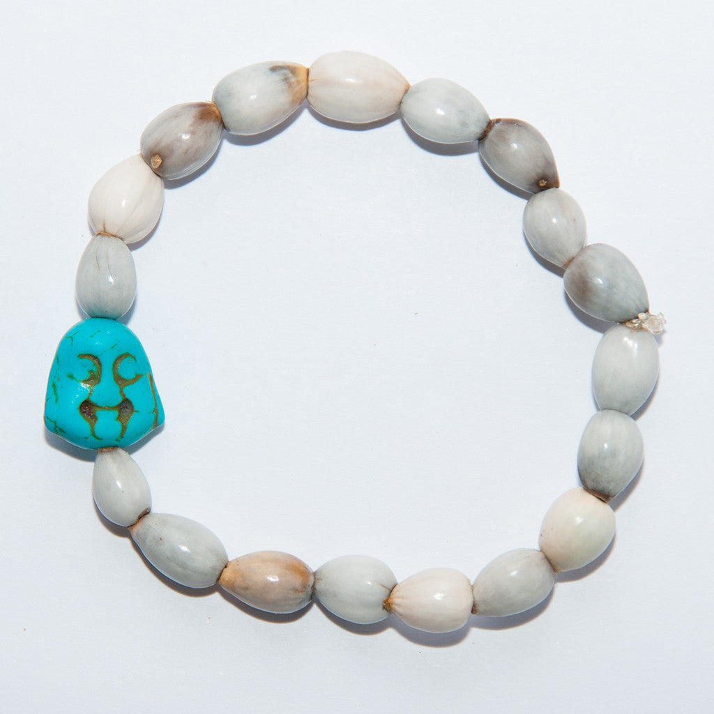 Blessing Bead Bracelet - Buddha Blue Two