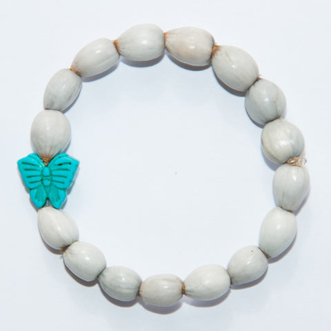 Blessing Bead Bracelet - Butterfly Turquoise