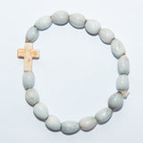Blessing Bead Bracelet - Cross Ivory