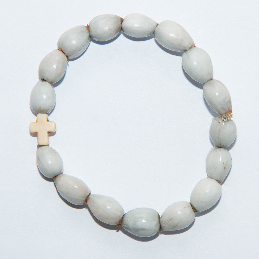 Blessing Bead Bracelet - Cross Ivory Small