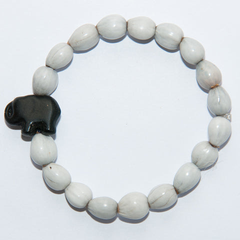 Blessing Bead Bracelet - Elephant Black