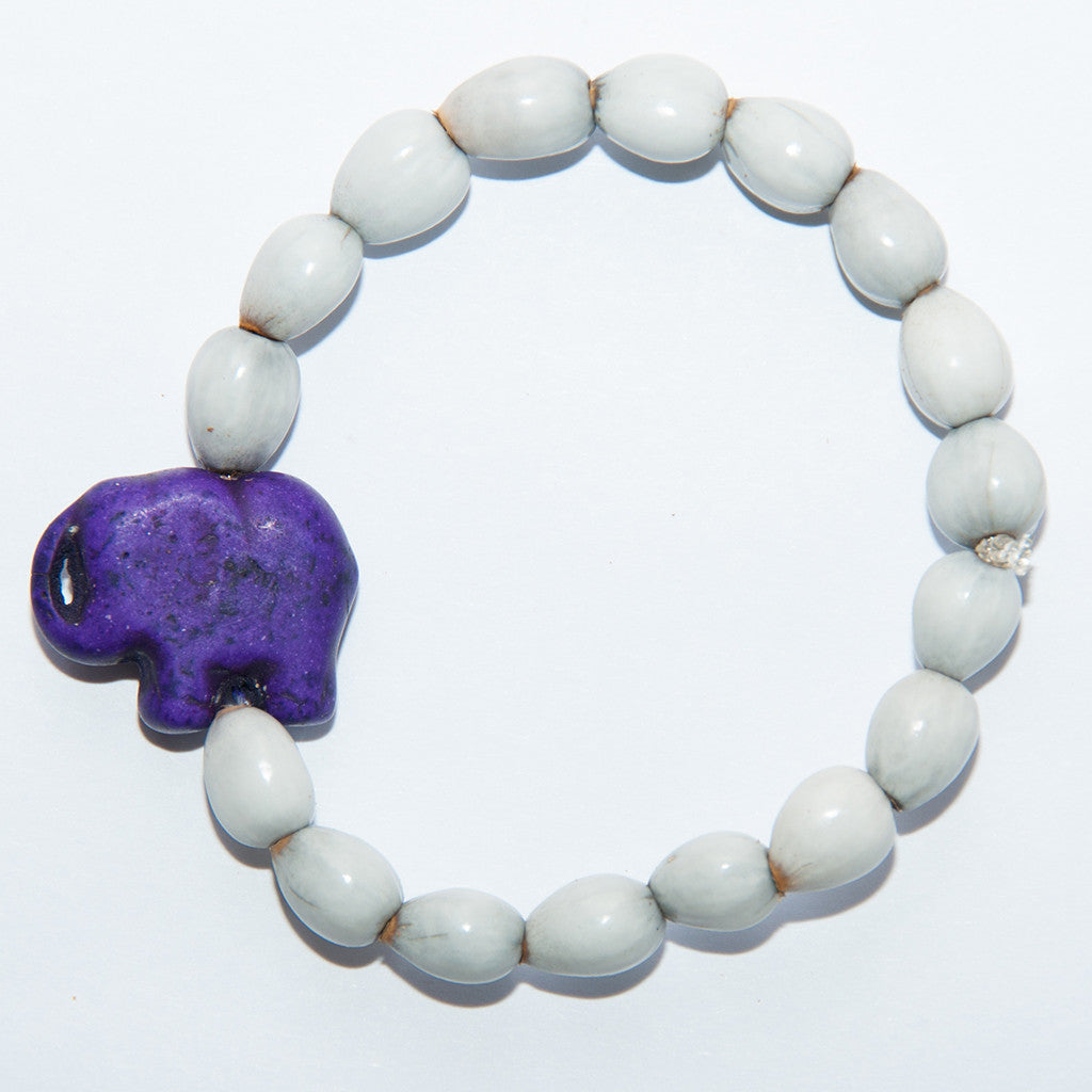 Blessing Bead Bracelet - Elephant Purple