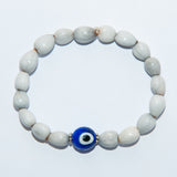 Blessing Bead Bracelet - Eye Blue