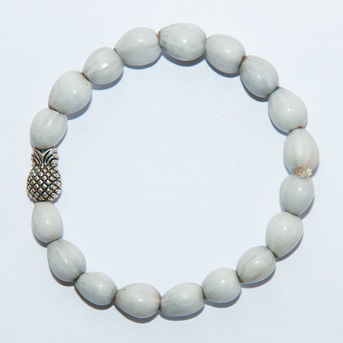 Blessing Bead Bracelet - Pineapple Silver