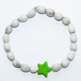 Blessing Bead Bracelet - Star Green