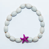 Blessing Bead Bracelet - Starfish Purple