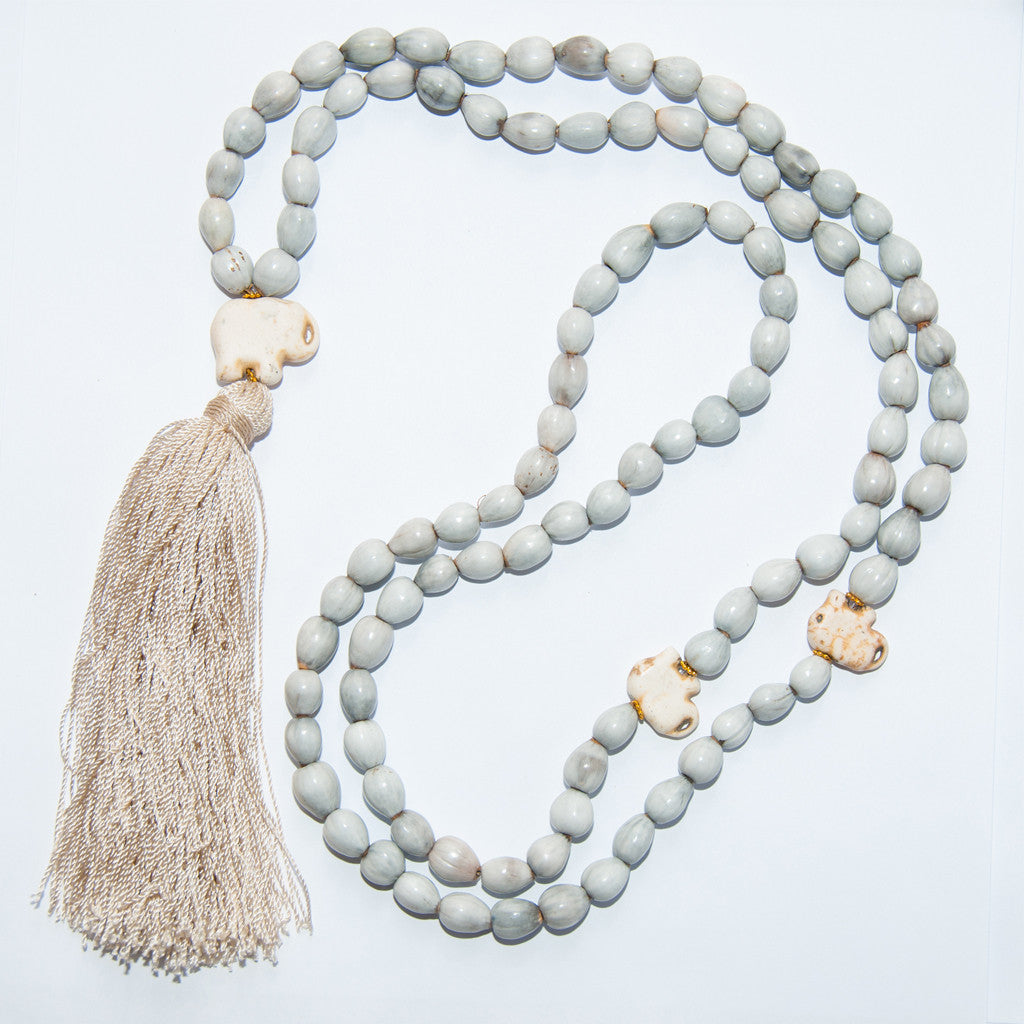 Blessing Bead Necklace - Tassel Elephant