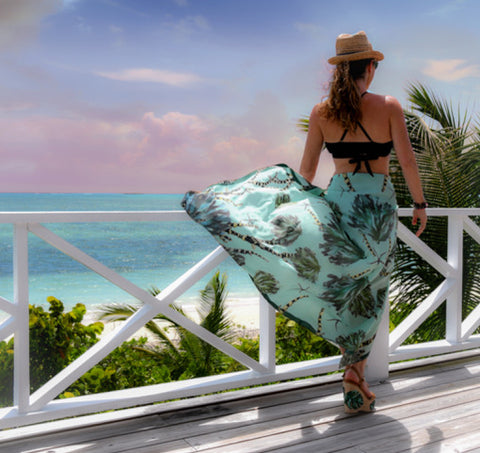 Sarong — Light Green Coral Seafan