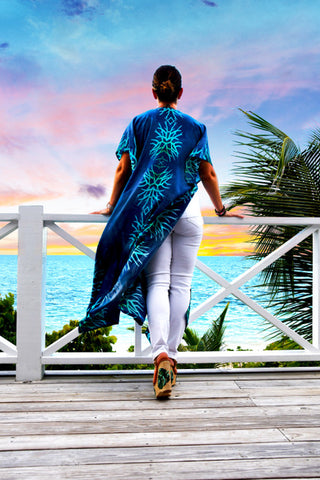 Cabana Caftan — Blue Green