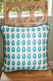 Neo-Color Dots Aqua Throw Pillow