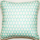 Big Catch Fish Scales Aqua Throw Pillow