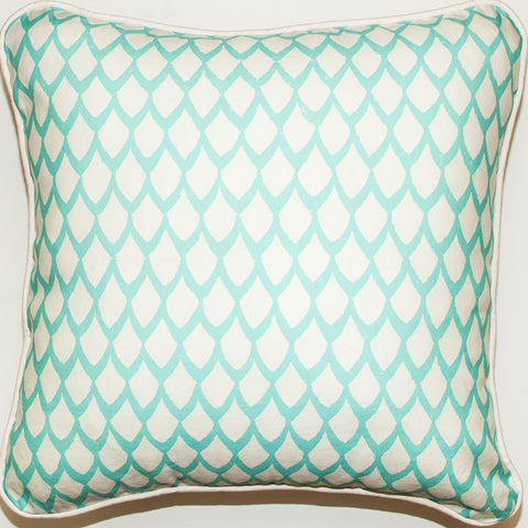 Coral Black Throw Pillow