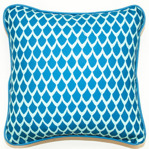 Tentacles Teal Throw Pillow